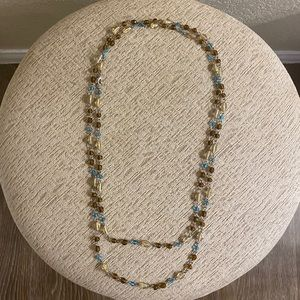 Necklace  - Long Beaded Necklace, Double Stranded